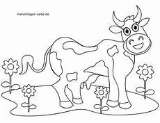 halaman mewarna kanak kanak kecil lembu
