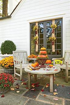 Decorations House Outside by 30 Outdoor Decorations For Fall Southern Living
