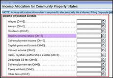generating form 8958 allocation of tax amount between certain in accountants community