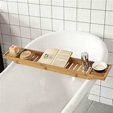 Sobuy 174 L80 Cm Bamboo Bathtub Rack Caddy Tray Bathroom