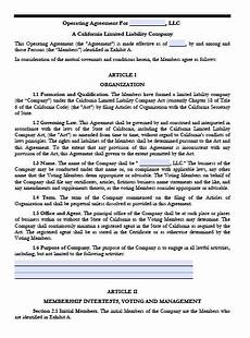 download california llc operating agreement templates pdf word wikidownload