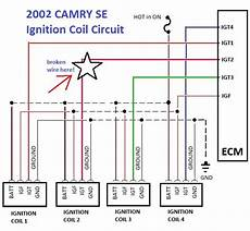 ignition coil wiring diagram toyota troubleshooting 2002 toyota camry misfire p0302 code using ignition coil test