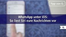 Whatsapp So Lasst Ihr Siri Eure Nachrichten Vorlesen