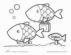 fish school worksheet education com