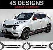 Nissan Juke Side Stripe Decals Stickers Nismo Stripes
