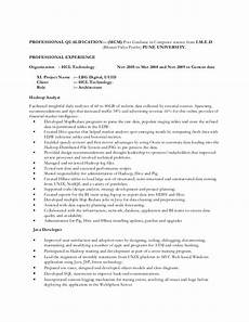 hadoop big data resume