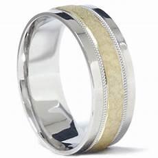mens 950 platinum 18k gold hammered wedding band ring ebay