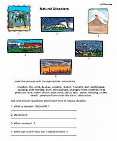 nature and weather worksheets 15158 10 environmental issues vocabulary and language exercises disasters disasters