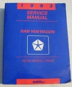 car repair manuals download 1993 dodge ram wagon b250 free book repair manuals mopar service manual 1993 dodge ram van wagon 93 ebay