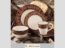 Tooled Leather Western Dinnerware LOVE! These are the