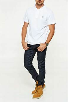 Timberland Polo Timberland Millers River Blanc Homme Polo