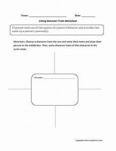reading worksheets character traits worksheets