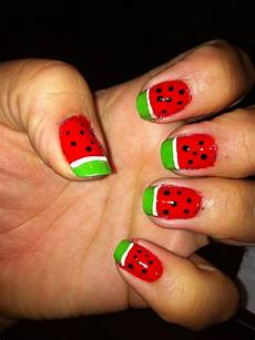 watermelons anyone quick and easy nail design quick