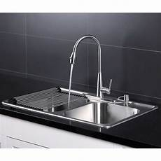 faucet sink kitchen afa stainless 33 quot kitchen sink and pull faucet combo 9654651235642 ebay