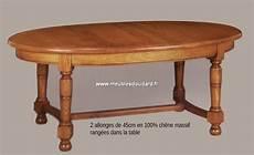 table ovale avec rallonge chene massif table ovale en ch 202 ne rustique pieds tourn 201 s ref gc 200