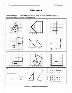 transformations dilations a coordinate plane by algebra funsheets