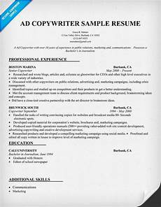 ad copy writer resume sle resumecompanion com resume sles across all industries