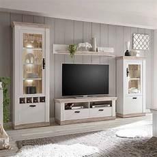 möbel wohnzimmer weiß landhaus wohnzimmer m 246 bel set in wei 223 kiefer nedita 4
