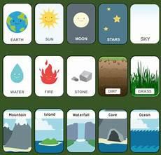 nature elements worksheets 15116 nature elements poster flashcards bingo worksheet by chris m