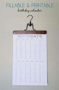 Birthday Reminder Chart Free Printable