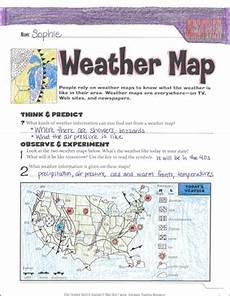 earth science mapping worksheets 13336 weather map an earth science journaling activity printable skills sheets