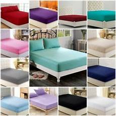 100 poly cotton extra deep fitted sheet bed sheets single double king size ebay