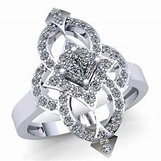 genuine 3carat princess cut diamond bridal fancy