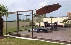 pare vent vitré coupe vent terrasse verre
