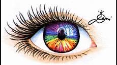 Bilder Zum Nachmalen Augen Auge Zeichnen How To Draw An Unicorn Rainbow Eye Wie