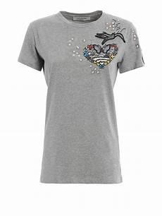 valentino melange cotton t shirt t shirts