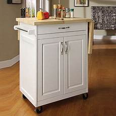 Big Lots Kitchen Furniture White Finish Kitchen Cart With Drop Leaf At Big Lots 41