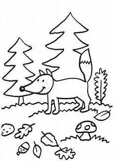 Schule Und Familie Ausmalbild Herbst Kostenlose Malvorlage F 252 Chse Fuchs Im Herbst Zum Ausmalen