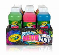 amazon com crayola washable neon sidewalk paint 6 color