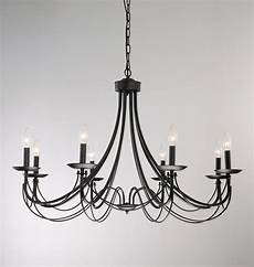 iron 8 light black chandelier 11387581 overstock com shopping great deals the lighting