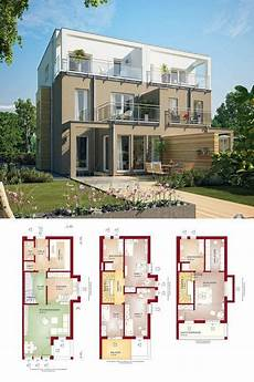 moderne doppelhaushälfte grundrisse doppelhaus modern mit flachdach grundriss