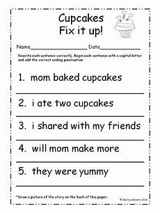 worksheets on punctuation and capital letters 20863 184 best images about 4 5 year activities on anchor charts activities and word