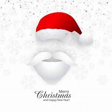 beautiful merry christmas card with santa hat background download free vectors clipart