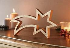 Sternschnuppe Deko Holz Figuren Weihnachten