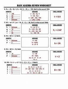 algebra review worksheets for calculus 8564 basic algebra review for physics by ms benson s science corner tpt