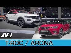 volkswagen t roc y seat arona frankfurt auto show 2017