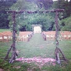 outdoor ceremony in an open field intimate space created