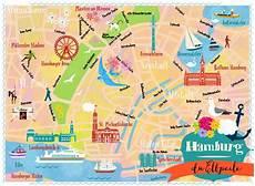 Malvorlagen Zum Drucken Hamburg Hamburg Map By Elisandra 2014 Hamburg Illustrierte