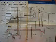 nos yamaha factory wiring diagram 1985 xt350 n xt350 nc ebay