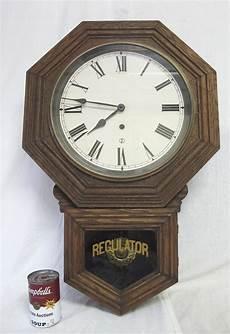 large antique sessions regulator pendulum dark wood hanging wall clock 2 yqz ebay