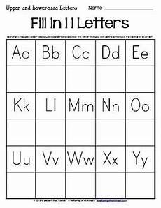 missing letter worksheets kindergarten 23183 missing letters worksheets by a wellspring of worksheets tpt