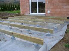 Verlegung Der Unterzugbalken Holzterrasse Holzterrasse