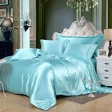 luxury solid satin bedding sets silk feeling queen king size bedding multiple color duvet