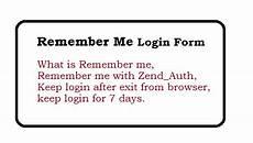 zend framework remember me login form web technology experts notes