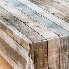 plain brown beige oak rustic effect pvc vinyl table