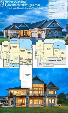 mountain house plans rear view house plans with a view to the rear in 2020 with images